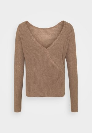 BASIC- BACK DETAIL JUMPER - Strikpullover /Striktrøjer - light brown