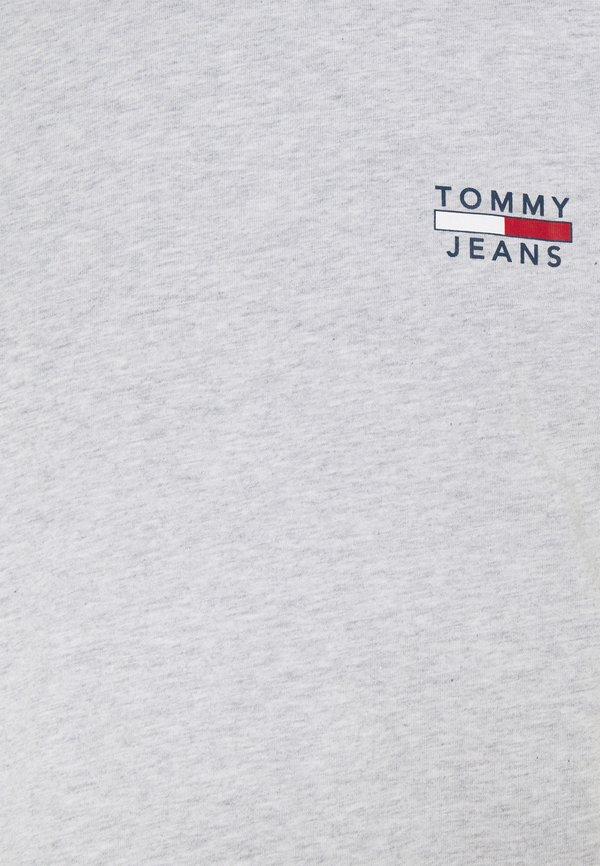 Tommy Jeans CHEST LOGO TEE - T-shirt z nadrukiem - grey/szary melanż Odzież Męska CDWN