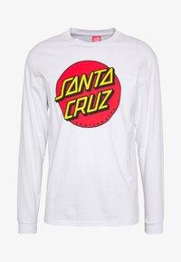 Santa Cruz - SANTA CRUZ UNISEX CLASSIC DOT TEE - Pitkähihainen paita - white - 5
