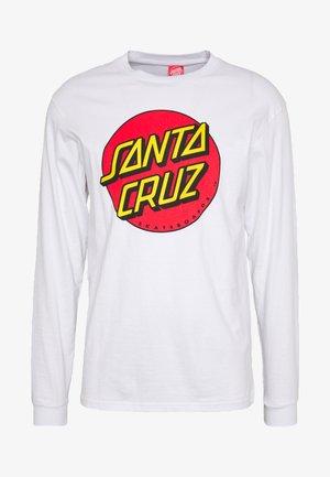 SANTA CRUZ UNISEX CLASSIC DOT TEE - Long sleeved top - white