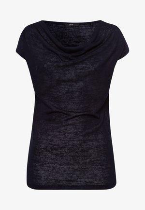 MIT WASSERFALLAUSCHNITT - T-shirt basic - dark blue