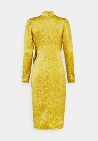 Who What Wear - DRAPED BOW MIDI DRESS - Cocktail dress / Party dress - mustard - 7