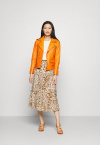 Deadwood - RIVER - Leather jacket - persimmon - 1