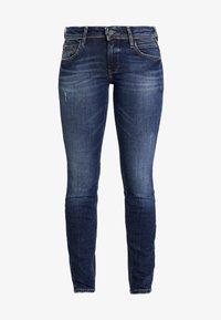 Marc O'Polo DENIM - ALVA SLIM - Slim fit jeans - dark crosshatch wash - 3