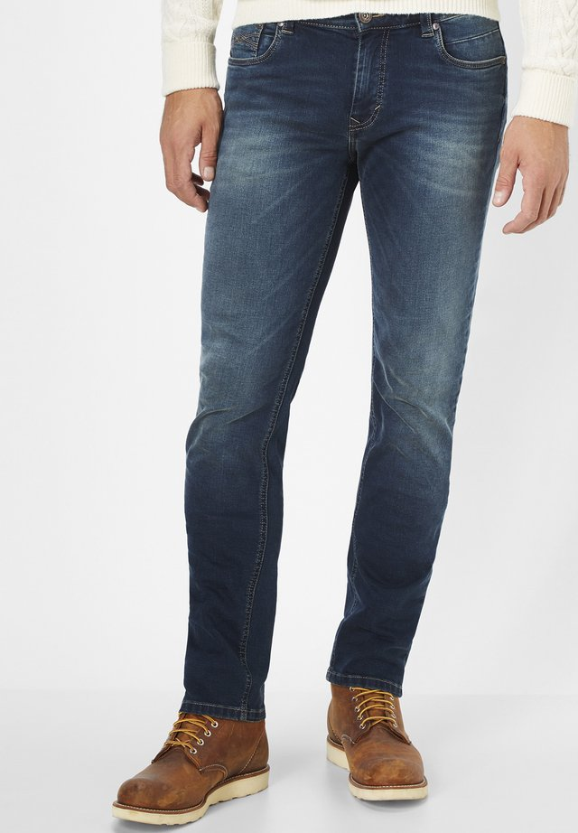 BEN - Slim fit jeans - authentic blue black stone use