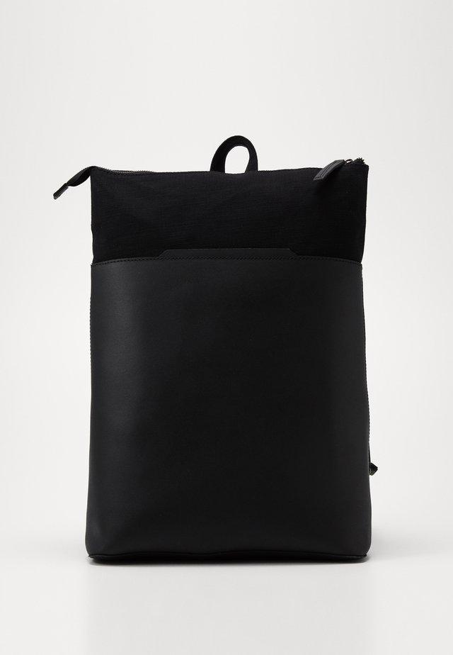 UNISEX LEATHER - Tagesrucksack - black