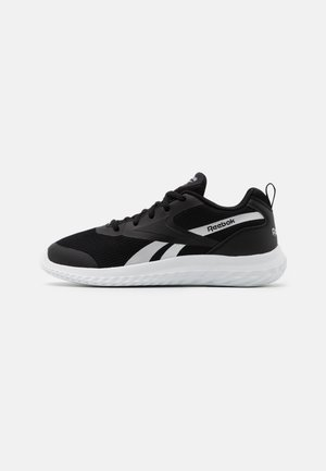 RUSH RUNNER 3.0 UNISEX - Neutral running shoes - black/white/silver metallic