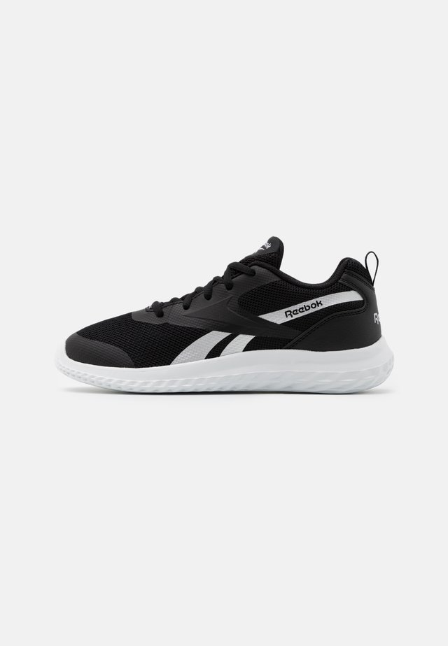 RUSH RUNNER 3.0 UNISEX - Obuwie do biegania treningowe - black/white/silver metallic