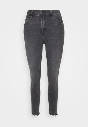 Jeansy Skinny Fit - grey/black denim