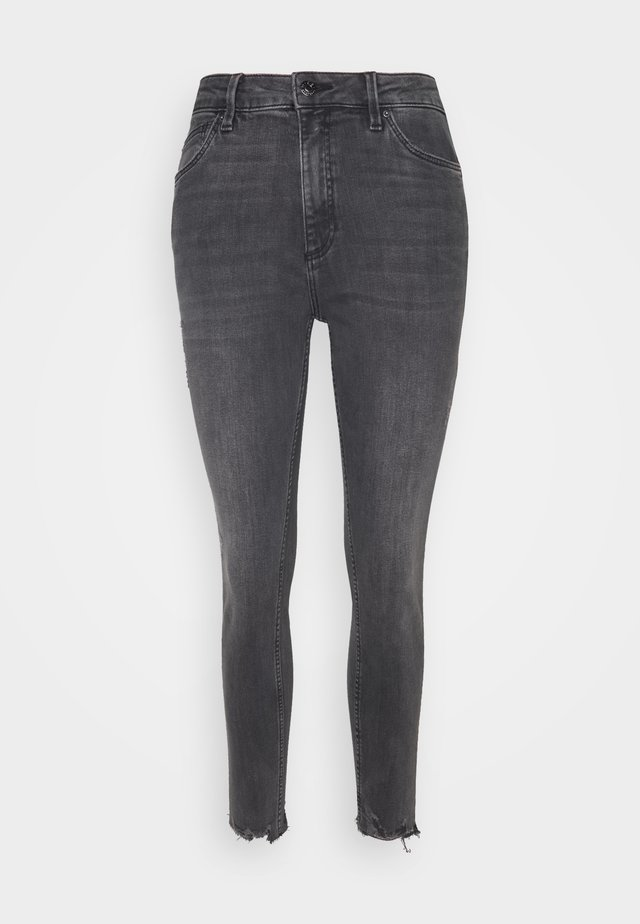 Skinny džíny - grey/black denim