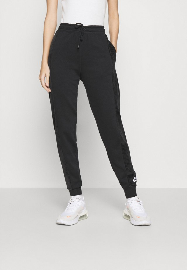 HRTG VELOUR - Pantalon de survêtement - black/white