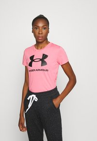Under Armour - LIVE SPORTSTYLE GRAPHIC - T-shirt imprimé - pink lemonade - 0