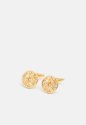 GEORGE FLORAL LINK - Cufflinks - gold-coloured