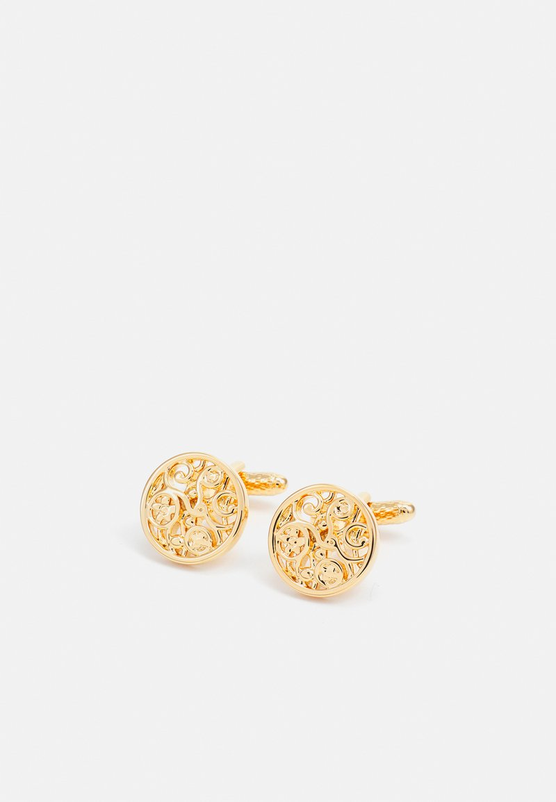 Twisted Tailor - GEORGE FLORAL LINK - Cufflinks - gold-coloured