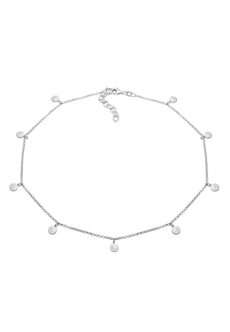 Elli - GEO KREIS BASIC MATT COIN - Halskæder - silver