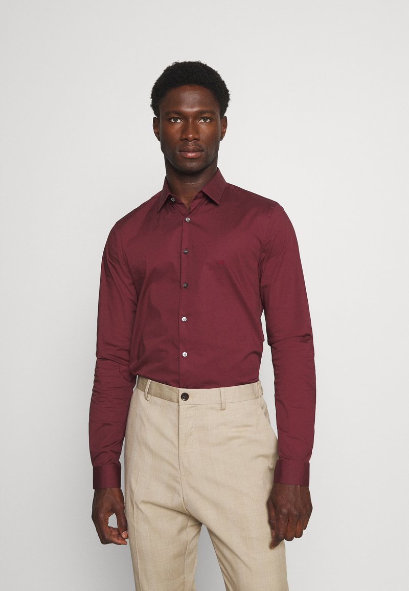 Calvin Klein Tailored - LOGO STRETCH EXTRA SLIM - Formal shirt - tawny port