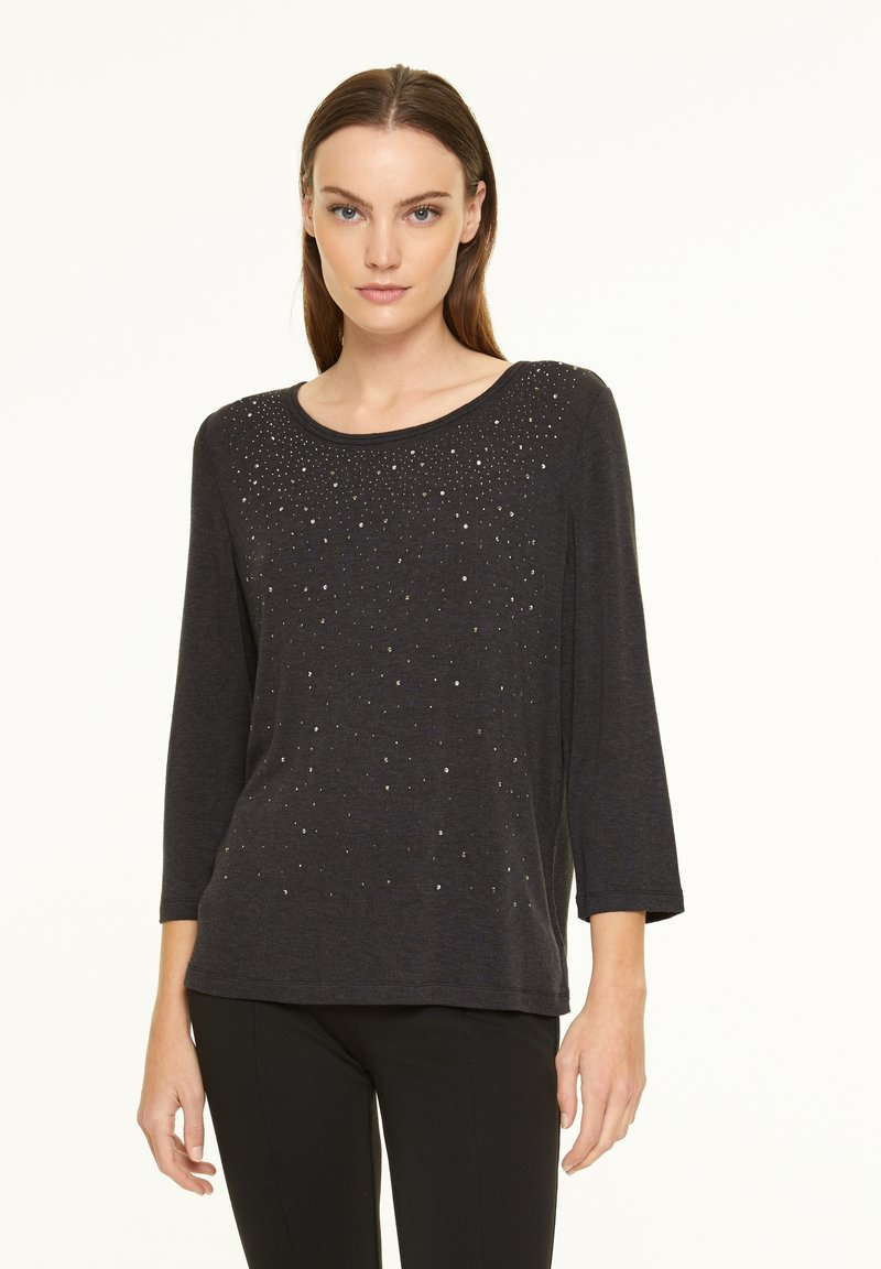 comma casual identity - Long sleeved top - anthracite