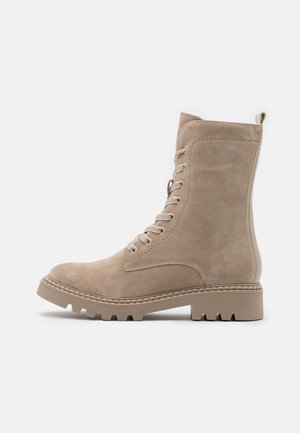 BOOTS - Lace-up ankle boots - beige
