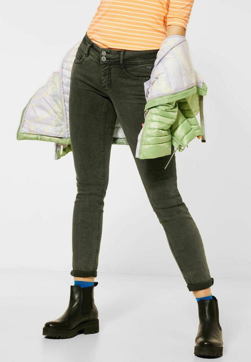 Street One - Jeans Skinny Fit - grün