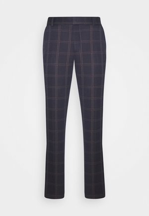 ONSELIAS CHECK  PANTS - Bukse - dress blues
