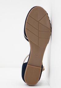 Anna Field - LEATHER - Ankle strap ballet pumps - dark blue - 6