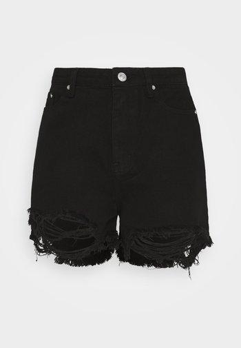 Shorts di jeans - black