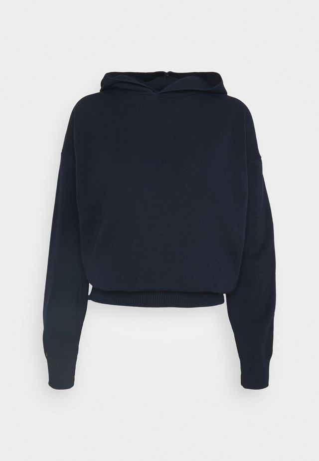 HOODED JUMPER WITH LONG SLEEVES - Felpa con cappuccio - dark navy