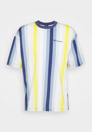 Print T-shirt - blue/yellow