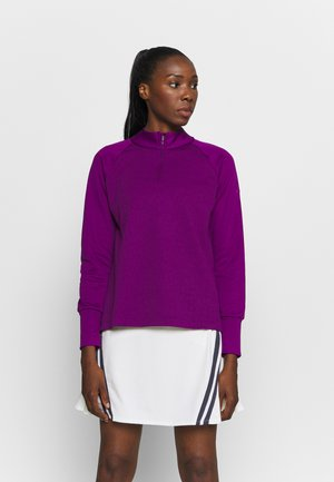 THERMA LONG SLEEVE ZIP - Sweater - bright grape/bright grape