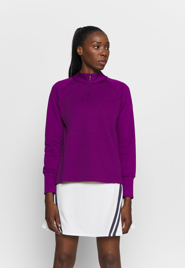 THERMA LONG SLEEVE ZIP - Sweatshirt - bright grape/bright grape