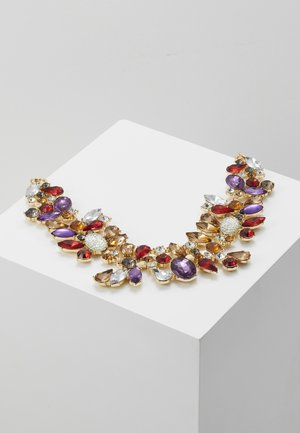 PCFLORINNA STONE NECKLACE - Ketting - gold-coloured/red