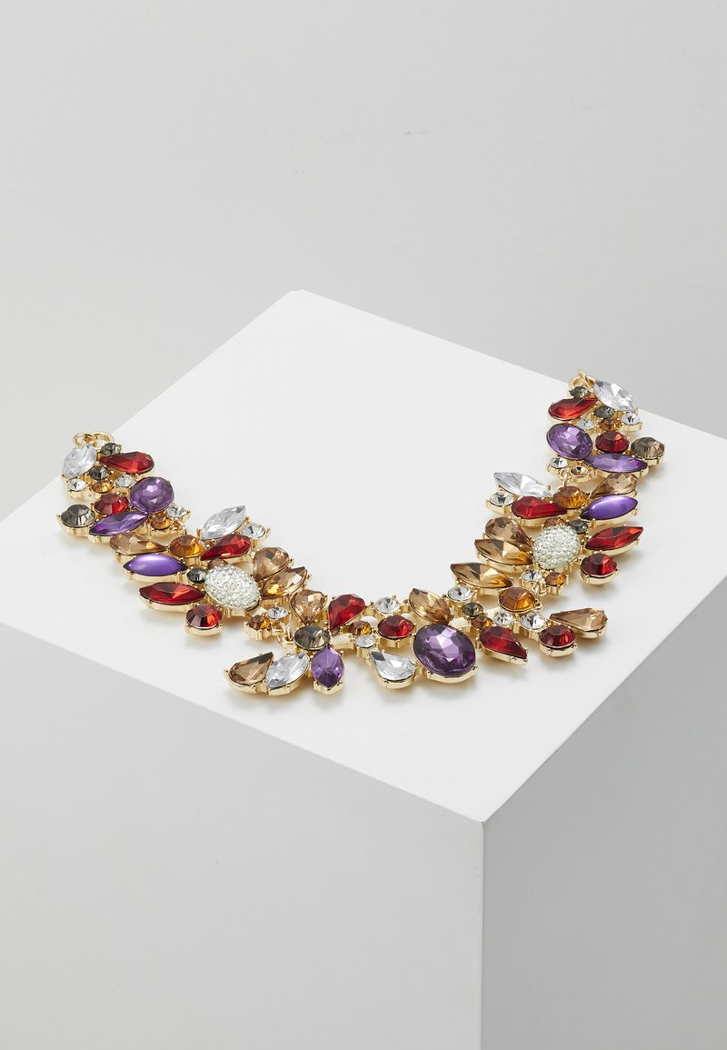 Pieces - PCFLORINNA STONE NECKLACE - Smykke - gold-coloured/red
