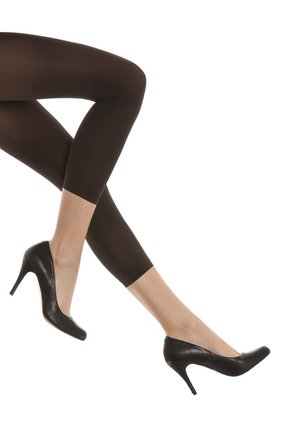 FALKE PURE MATT 50 DENIER LEGGINGS HALB-BLICKDICHT MATT - Leggings - Stockings - anthracite