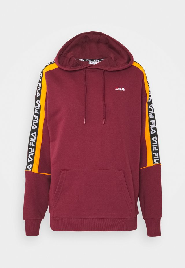 TAVORA HOODY - Hoodie - tawny port/orange popsicle