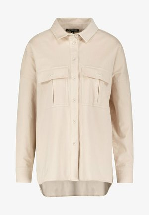 Button-down blouse - oyster beige