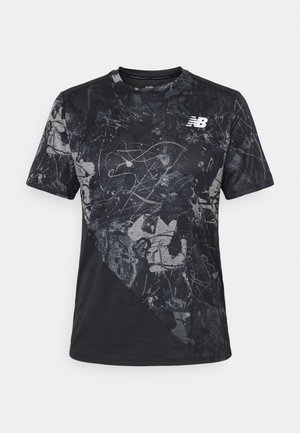 PRINTED VELOCITY - T-shirt con stampa - black