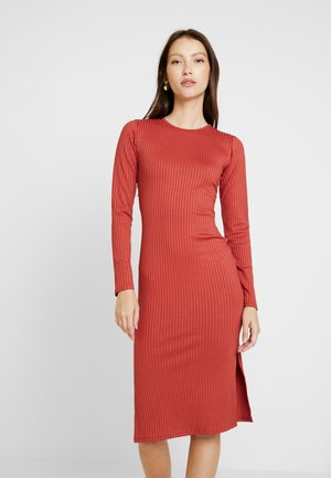 SASSI DRESS - Shift dress - rust