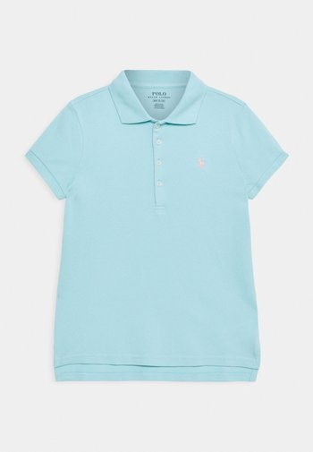 Polo shirt - dusty turquoise/red coral