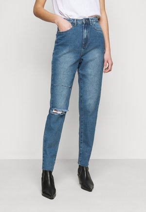 DOUBLE KNEE RIP RIOT MOM - Straight leg jeans - blue