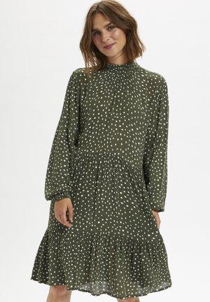 KABILLIE AMBER DRESS - Day dress - grape leaf/ chalk dot