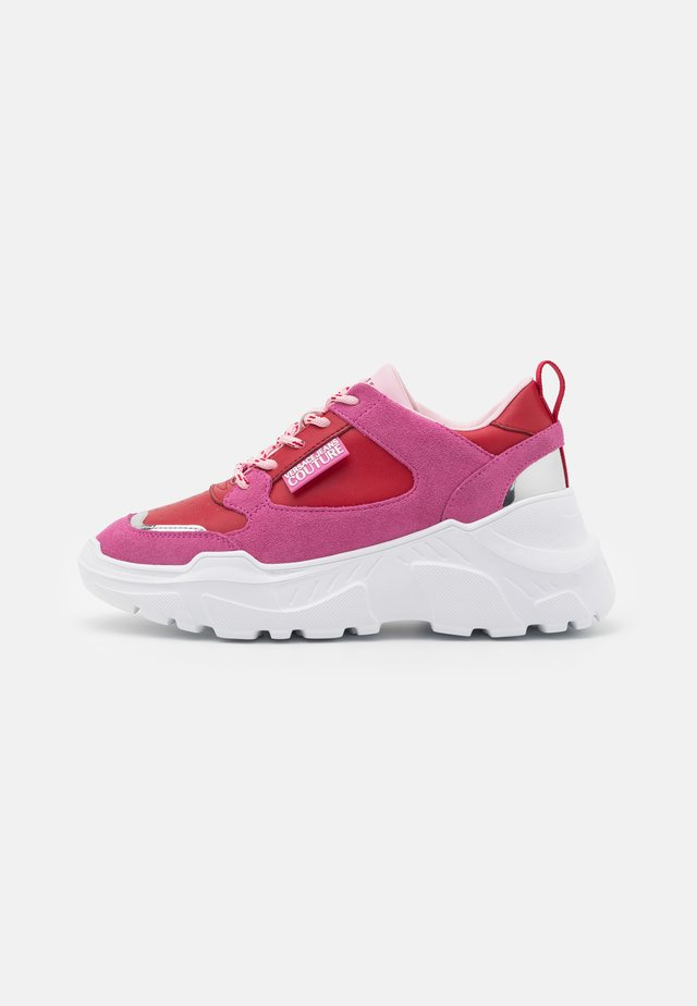 Sneakers laag - red/pink