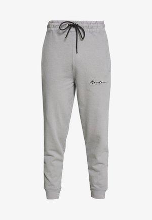 REGULAR SIGNATURE  - Tracksuit bottoms - slate grey