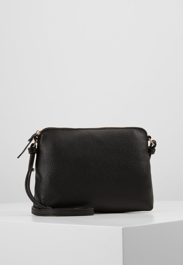TAN ZIP TOP CROSS BODY - Axelremsväska - black