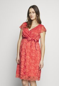 Esprit Maternity - DRESS - Cocktail dress / Party dress - coral - 0