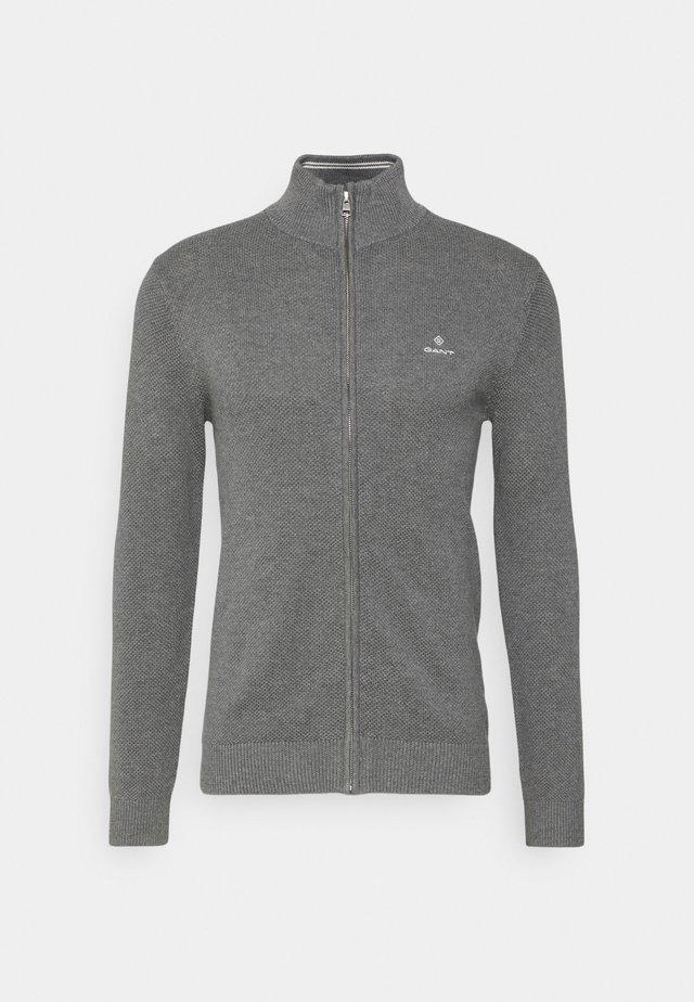 Cardigan - dark grey melange