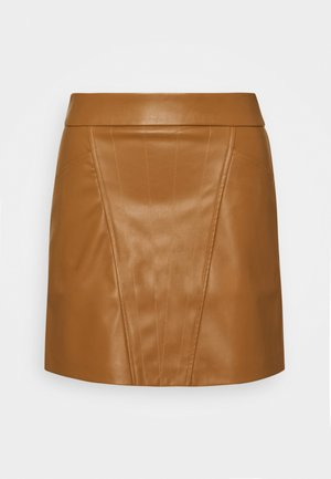 ONLNAYA SKIRT - Spódnica mini - toasted coconut