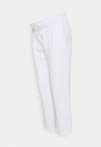 PANTS - Kangashousut - white