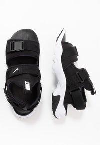 Nike Sportswear - CANYON - Walking sandals - black/white - 1