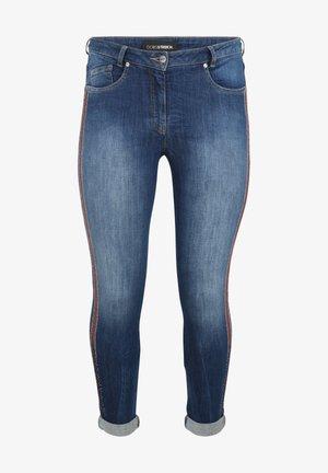 MIT GLITZER-DETAILS - Jeans Skinny Fit - blue