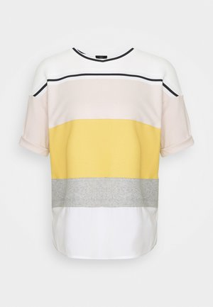 Print T-shirt - honey mustard